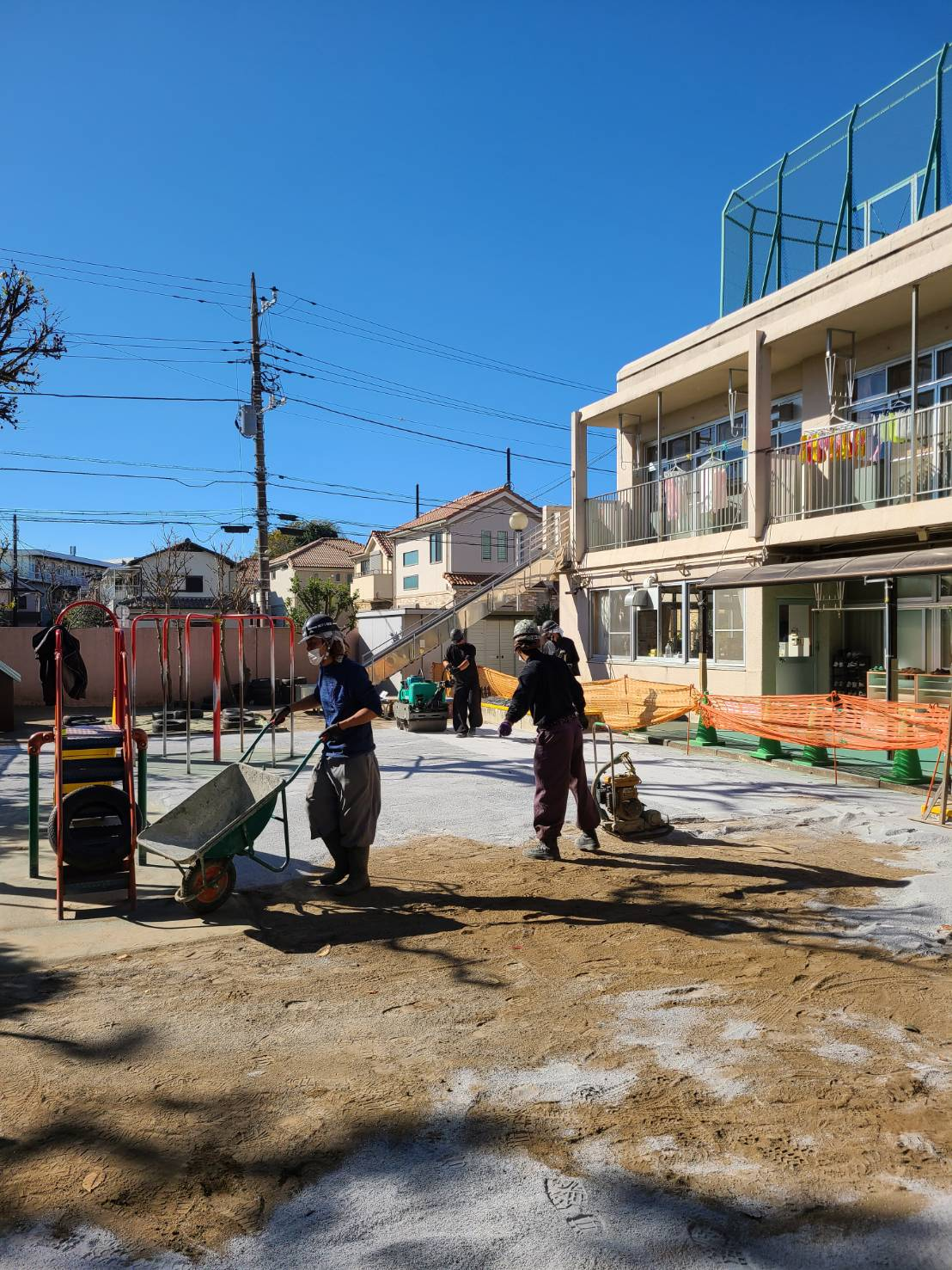 【施工実績】練馬区:保育園の園庭整備